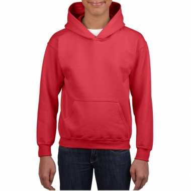 Rode capuchon sweater jongens