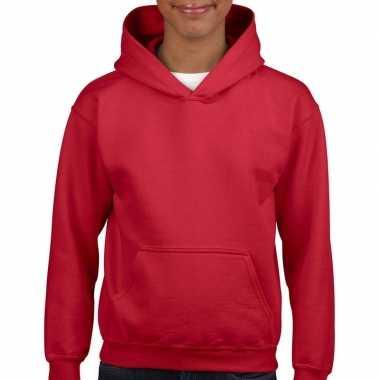 Rode capuchon sweater meisjes