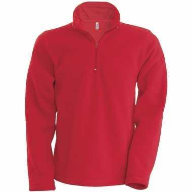 Rode micro polar fleece trui heren