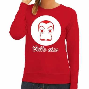 Rode salvador dali sweater dames