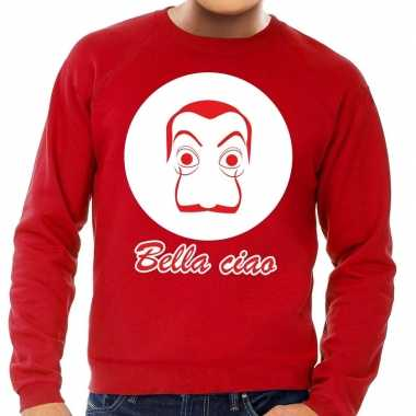 Rode salvador dali sweater heren