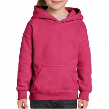 Roze capuchon sweater meisjes