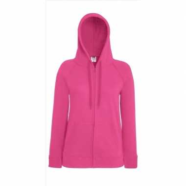 Roze vest capuchon dames