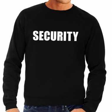 Security tekst sweater / trui zwart heren