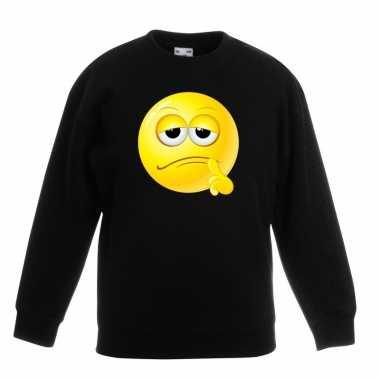 Smiley sweater bedenkelijk zwart kinderen