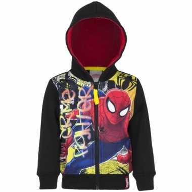 Spiderman capuchon vest zwart