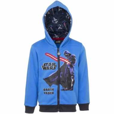 Star wars sweater rits blauw