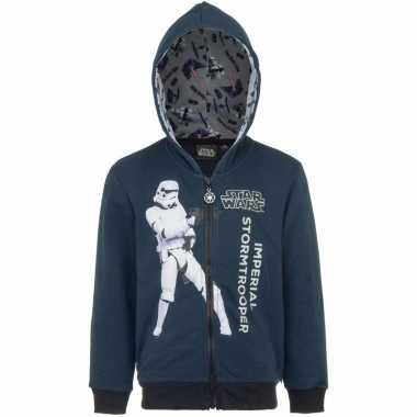 Star wars sweater rits donkerblauw