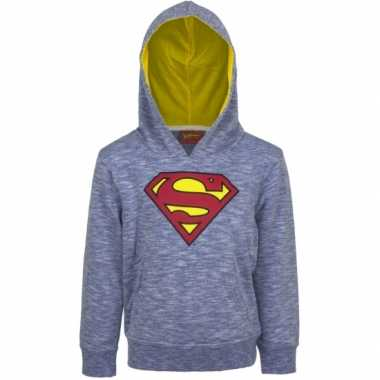 Superman capuchon sweater blauw jongens