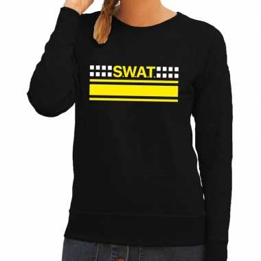 Swat team logo sweater zwart dames