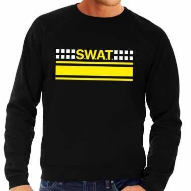 Swat team logo sweater zwart heren