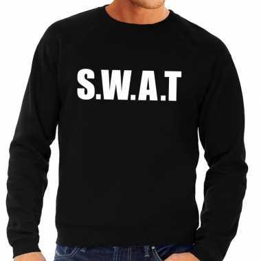 Swat tekst sweater / trui zwart heren