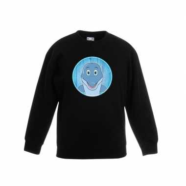 Sweater dolfijn zwart kinderen