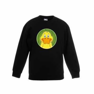 Sweater eend zwart kinderen