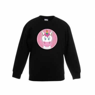 Sweater eenhoorn zwart kinderen