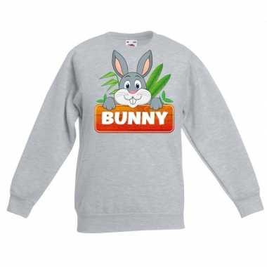 Sweater grijs kinderen bunny konijn