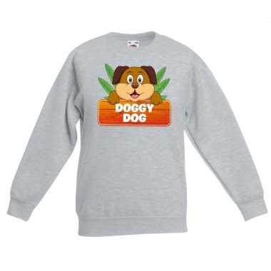 Sweater grijs kinderen doggy dog hond