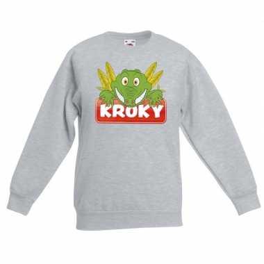 Sweater grijs kinderen kroky krokodil