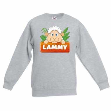 Sweater grijs kinderen lammy schaapje