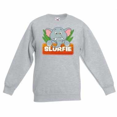 Sweater grijs kinderen slurfie olifant