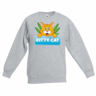 Sweater grijs kinderen tommy the cat
