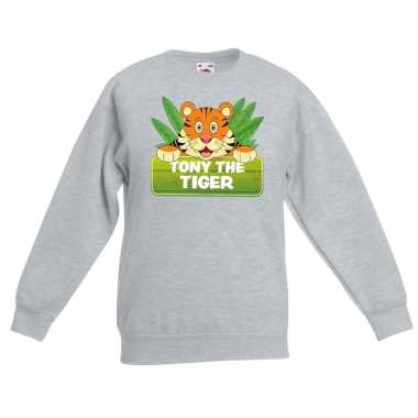 Sweater grijs kinderen tony the tiger