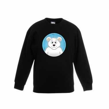 Sweater ijsbeer zwart kinderen