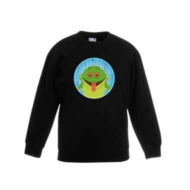 Sweater kikker zwart kinderen