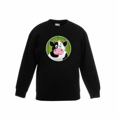 Sweater koe zwart kinderen