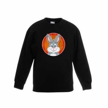 Sweater konijn zwart kinderen