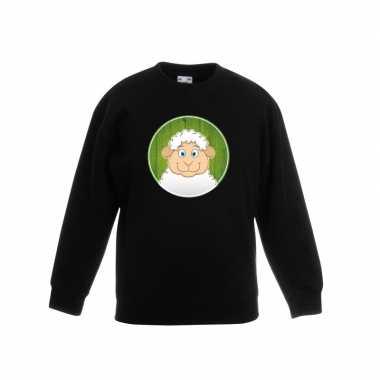 Sweater lammetje zwart kinderen