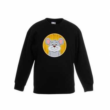 Sweater muis zwart kinderen