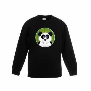 Sweater panda zwart kinderen