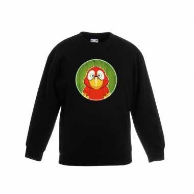 Sweater papegaai zwart kinderen