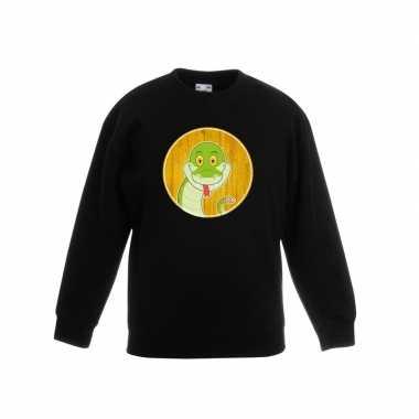 Sweater slang zwart kinderen