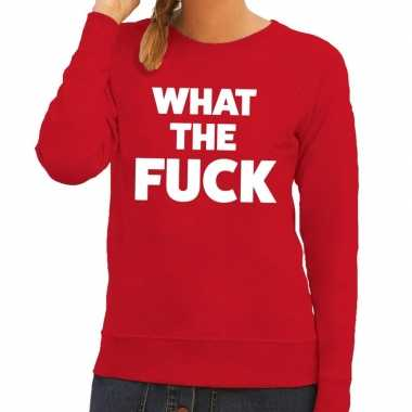 Toppers what the fuck tekst sweater rood dames