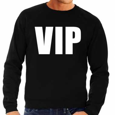Vip tekst sweater / trui zwart heren