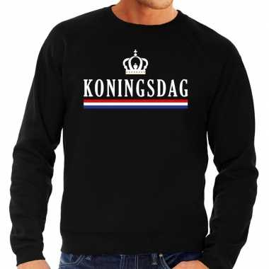 Zwart koningsdag sweater heren