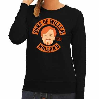 Zwart sons of willem sweater dames