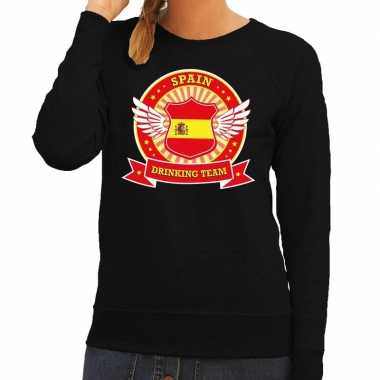 Zwart spain drinking team sweater dames