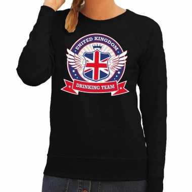 Zwart united kingdom drinking team sweater dames