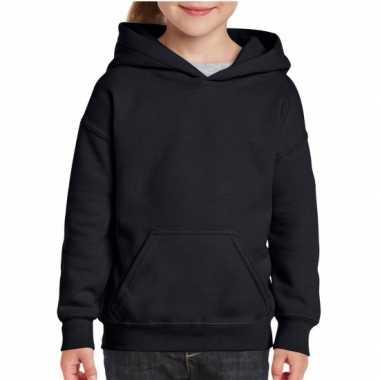 Zwarte capuchon sweater meisjes