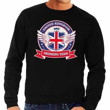 Zwarte engeland drinking team sweater heren