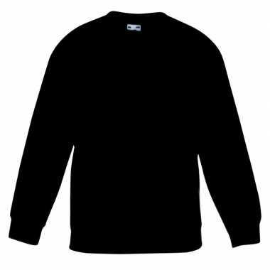 Zwarte katoenmix sweater meisjes