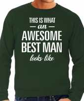 Awesome best man getuige cadeau sweater groen heren