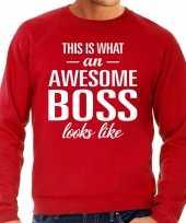 Awesome boss baas cadeau sweater rood heren