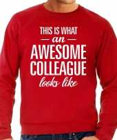 Awesome colleague collega cadeau sweater rood heren
