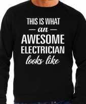 Awesome electrician elektricien cadeau sweater zwart heren