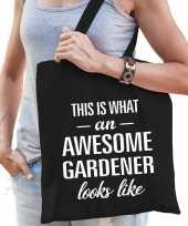Awesome gardener hovenier cadeau tas zwart dames