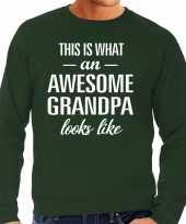 Awesome grandpa opa cadeau sweater groen heren